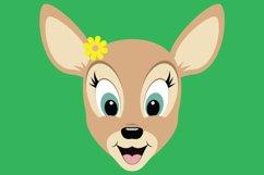 Cute Deer SVG Cut Files, PNG deer clipart, happy baby deer Product Image 3