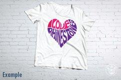I Love Rhinestones SVG cut file in a Heart Shape Product Image 2