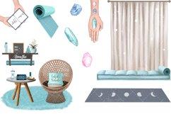 YOGA GIRL Clipart Meditation Fashion Girl Illustration Product Image 5