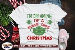 I'm dreaming of a maskless Christmas svg, Christmas svg Product Image 1