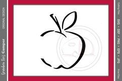 Teacher's Apple SVG. Teacher, Apple Product Image 1