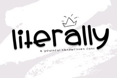 Literally - A Youthful Handwritten Font Product Image 1