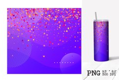 Skinny tumbler sublimation Valentines ombre design 20oz Product Image 5