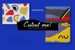 Cutout me! Abstract geometry paper cut pattern Product Image 1