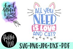cat lovers svg - all you need is love and cats Product Image 1