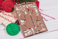Gingerbread Man Christmas Invitation cutting file Product Image 2