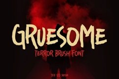 Gruesome - Horror Font Product Image 1