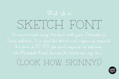 """BARN ACRE"" Sketch Font - Single Line/Hairline Font Product Image 2"