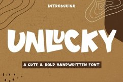 Web Font Unlucky - Display Bold Font Product Image 1