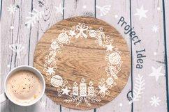 Floral X-mas Wreaths Set SVG, Christmas Decor Cut Files Product Image 6