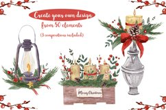 Rustic Christmas Watercolor DIY Set Hand painted Product Image 2