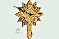 Cross Wall Clock design dxf, Cricut svg, laser cutting file. Product Image 2