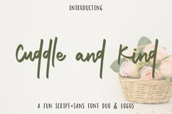 Cuddle and Kind Font Duo  Logos Product Image 1