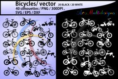bicycle silhouette svg / Bicycles / bicycle / bicycle riders Product Image 1
