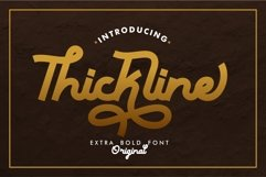 Thickline - Classic Bold Font Product Image 1