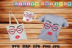 Eyelashes Girl svg,Make up,Wake up,Eyelashes Girl with lips Product Image 1