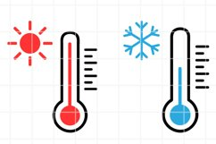 Thermometer SVG. Temperature cut file. Weather illustration. Product Image 1