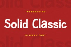 Solid Classic Font Product Image 1