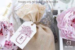 Mason Jar SVG file, Mason Jar Cut file, Mason Jar with roses Product Image 4