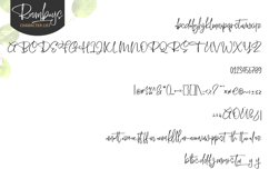 Roombays - Narutaly Flow Handwriting Script Font Product Image 2