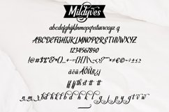 Mildyves - Handcrafted Calligraphic Font Product Image 4