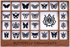 Laser Cut Files Vol.2 - 50 Butterfly Ornaments Bundle Product Image 5