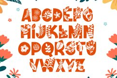 Fall Vibes - Floral Font Autumn Season Product Image 5