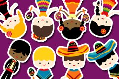Cinco de mayo kids graphic illustration / Mexican boys girls Product Image 3