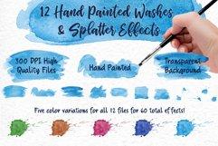 Sky Wonder, Watercolor Clip Art Set! Patterns, Backgrounds! Product Image 4