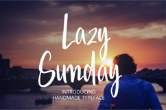 Lazy Sunday- A cute handwritten font Product Image 1