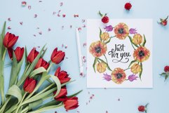 Super Tulip red flowers Watercolor png Product Image 2