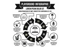 Playground infographic elements, simple style Product Image 1