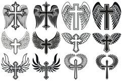Cross with Wings SVG, Cross Svg, Memorial SVG, Angel Wings Product Image 2
