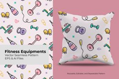 Fitness Equipment | Seamless Pattern Product Image 1