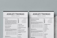 Resume | CV Template Cover Letter - Ashley Thomas Product Image 5