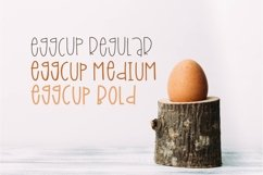 Eggcup - A Mixed Case Font with Three Weights Product Image 2