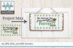 BUNDLED Football Cutting Files KWD006 Product Image 3