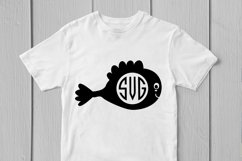 Cute Fish - Animal SVG EPS DXF PNG Monogram Cutting Files Product Image 2