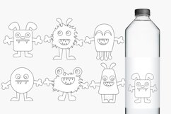 Monsters clip art and digital stamps, pastel colors Product Image 2