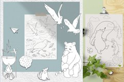 Coloring pages with funny animals, journeys and summer stuff Product Image 2