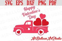 Valentines Day Truck Svg Valentines SVG Love Svg Valentine Product Image 1