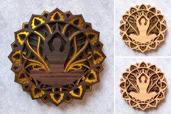 Meditation Mandala 3D Layered SVG Cut File Product Image 5