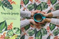 Tropics leaves JPG watercolor set Product Image 6