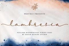 Elegant Script - Lambresia Font Product Image 2