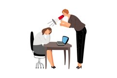 Angry business woman with megaphone Product Image 1