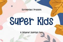 Super Kids - Playful Display Font Product Image 1