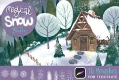 Magical Snow Procreate Brushes Product Image 1