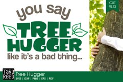 Tree Hugger - Conservation SVG and Cut Files for Crafters Product Image 1