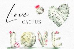 Watercolor cactus clipart, Cute cactus png. Love cactus Product Image 5