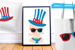 Baby 4th of July graphics and illustrations Product Image 5